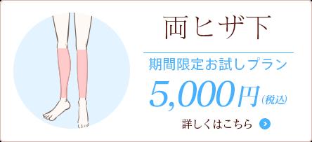 両ヒザ下 期間限定5000円