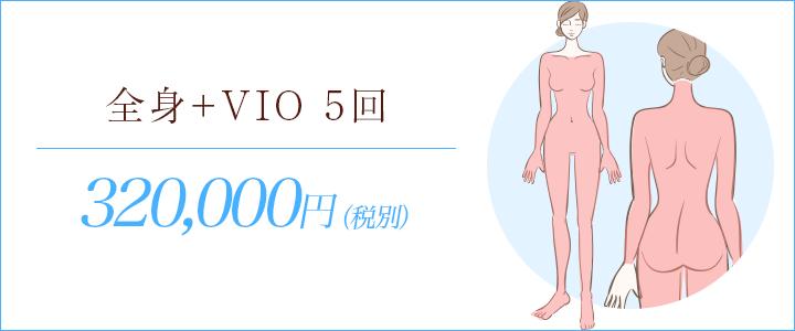 全身脱毛+VIO脱毛5回348,000円