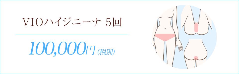 VIOハイジニーナ脱毛5回108,000円